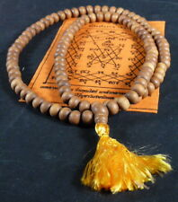 Blessed Buddhist REAL WHITE SANDALWOOD MALA. 8.75 mm. Empowered POSITIVE ENERGY