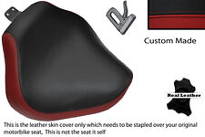 DARK RED & BLACK CUSTOM FITS YAMAHA XVS 1100 DRAGSTAR CUSTOM FRONT SEAT COVER