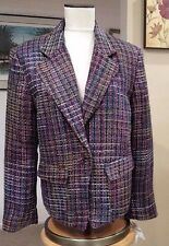 KORET Vienna 533 Plum Tweed  Boucle BLAZER SIZE 16 NWT