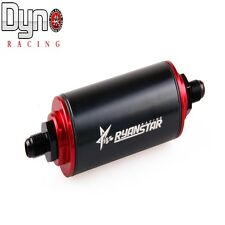 Aluminum Car In Line Oil Fuel Filter AN6 Fittings Adapter with 100 Micron Elem