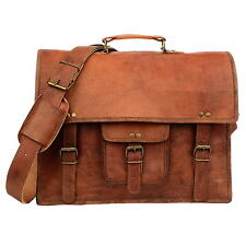 Fair Trade Handmade Large Brown Leather Satchel