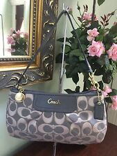 Coach Wristlet Large F47524 Outline Signature Bag Wallet  Gray W15
