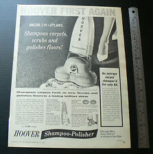 1962 vintage ad HOOVER Shampoo Polisher sales advertisement advertising retro