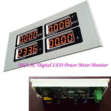 Current 100A LED Voltage KWh Time Voltmeter Ammeter Electric Power Monitor Meter