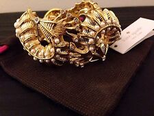 NWT Kate Spade New York Gold Monterey Bay Seahorse Pearl Sea Ocean Cuff Bracelet