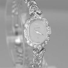 Ladies Quartz Bucherer 18ct White Gold Diamond  Vintage 18k Bracelet  Watch
