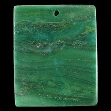 natural African Transvaal Jade gemstone pendant bead stone v2280