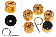 5pcs x 19mm GOLD Wheel Plastic Nut / Bolt Covers Caps Inc. Removal Tool /22047