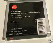 Brand New Unused Leica M Mount Body Cap Logo Original Genuine 14195