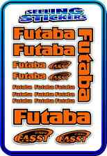FUTABA SERVO RADIO RX TX 2.4G FLIGHT REMOTE CONTROL STICKERS FASST ORANGE BLACK