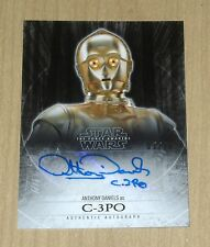 2015 Topps Star Wars Force Awakens autograph GOLD Anthony Daniels C3P0 C3-P0 /10