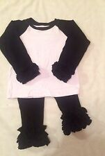 Black And White Raglan Icing Set Size 2