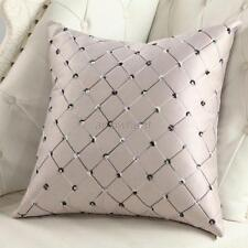 1X Lattice Pattern Pillow Case Home Room Decor Throw Sofa Cushion Cover Back Hot