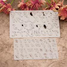 2Pcs Alphabet Letters Stencils Die Cutting Scrapbooking Craft Album Card Decor