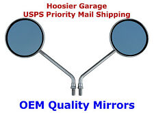 "Pair 4"" Round Motorcycle Mirrors - Honda CB 500,550,650,750"