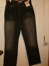 NWT Women Faded Glory Black Jeans Size 6 Average FG 1972 NEW
