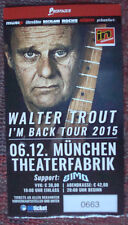 1 WALTER TROUT used Ticket Stub 2015 Concert I'm Back Tour rare rar Canned Heat