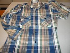 Vintage Five Brother Men's Medium Flannel Shirt ( M ) Long Sleeve Made In USA