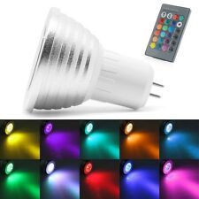 MR16 220V 5W RGB LED Light Color Changing Lamp Bulb + Remote Control