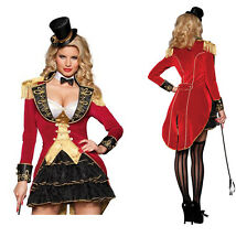 Adult Women Ringmaster Costume Circus Lion Tamer Beastmaster Cosplay Fancy Dress