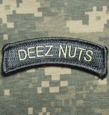 DEEZ NUTS TAB US ARMY USA ISAF ACU LIGHT VELCRO® BRAND FASTENER MORALE PATCH