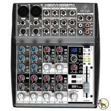 Behringer XENYX 1002FX 10 Channel Audio Mixer w/ Multi Effects Processor 1002 FX
