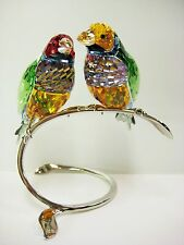 GOULDIAN FINCHES PERIDOT FINCH BIRDS 2013 SWAROVSKI CRYSTAL BIRD  #1141675