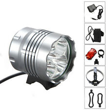 5x CREE XM-L U2 LED 8000Lm Front Bicycle Light bike Lamp Headlamp Headlight Set