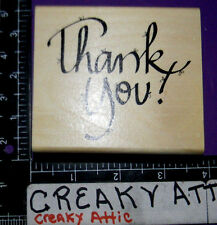 THANK YOU BOWS LARGE RUBBER STAMP DJ INKERS RETIRED