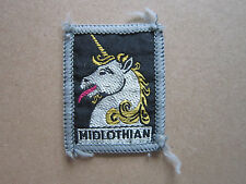 Midlothian Woven Cloth Patch Badge Boy Scouts Scouting Guides