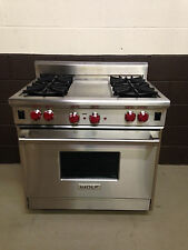 "Wolf R364G 36"" Professional Gas Range Oven 4 Burner with Griddle"