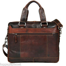 Jack Georges Voyager Collection Double Entry Top Zip Briefcase 7320 Brown