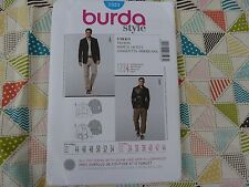 Burda 7523 Men's sports Jacket coat sewing pattern chest 34-44
