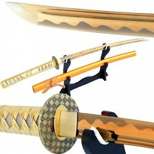 Special Gold Blade Japanese Katana Warrior Sword Carbon Steel Can Cut Bamboo