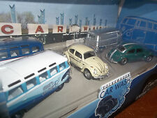 GREENLIGHT 1/64 VOLKSWAGEN DIORAMA CAR WASH VW BUG BUS 5 CAR SET