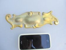 Vintage Brass Finger Plate Push Door Handle Architectural Art Nouveau Rococo Old