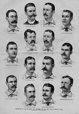 NEW YORK BASEBALL CLUB PORTRAITS MANAGER AND MEMBERS 1886 EWING KEEFE O'ROURKE