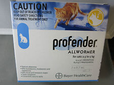 Profender Spot on Allwormer for Cats 2.5kg to 5 kg  Blue 2 pack