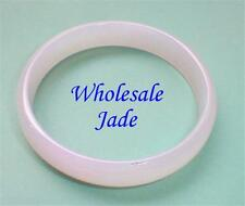 CARNATION PINK NATURAL JADE BANGLE BRACELET 65mm GF NIB