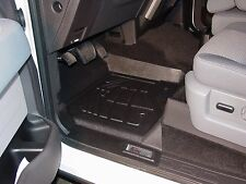 Front & Second Row Black Floor Mats for a 2011 - 2014 Ford F150 Super Cab