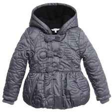 LITTLE MARC JACOBS GIRLS GREY QUILTED PADDED JACKET 3 YEARS