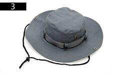 Bush Hat Sun Fishing Mens Cap Cotton Army Style Outdoor Safari Beige Green Grey