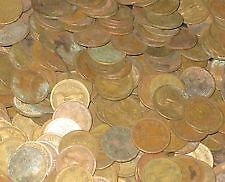 100 pcs lot of one paisa 1957-64 bronze brass mix lot in fine condition