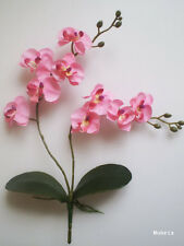 "1x 17.5"" Pink PHALAENOPSIS ORCHID, Artificial Silk Flower /S14"