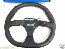 350mm Black Flat Bottom two Button Steering Wheel Fit OMP MOMO Boss kit Drag car
