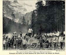 Denkmal für Juste Oliver, dem Sänger der Waadt (Schweiz) Bilddokument 1907