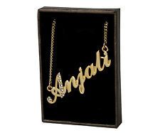 "Name Necklace ""ANJALI"" - 18ct Gold Plated - Swarovski Elements - Birthday Gifts"
