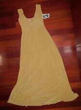 NWOT Small Adult Slinky tank dress Antique Gold Sequin Showchoir evening gown
