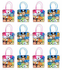New Disney Tsum-Tsum Character Party Favors Goodie Bag 12pc Storage Gift Bags