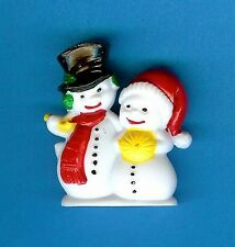 Mr & Mrs SNOWMAN CHRISTMAS CAKE DECORATIONS (Pack of 10) decorating figures